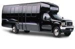 Chauffeur driven black Limo Coach limousine hire in UK
