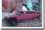 Chauffeur stretched pink Hummer limo hire in Aberdeen, Scotland