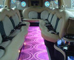 Chauffeur stretched Range Rover limousine hire interior in UK